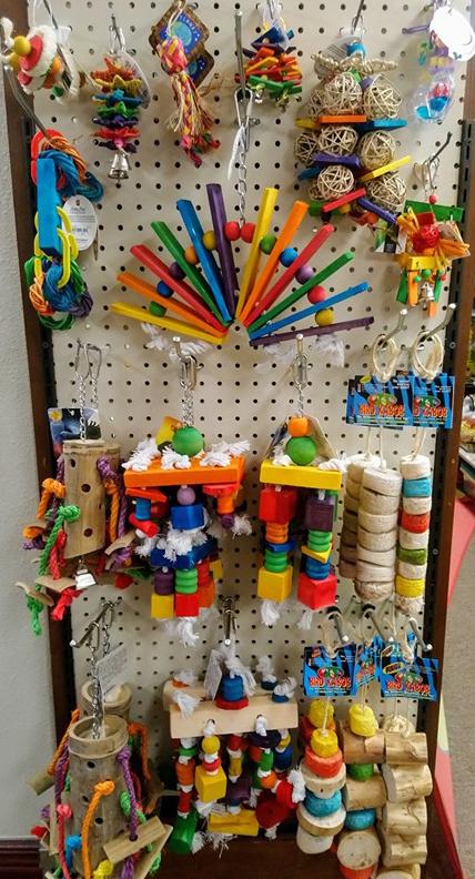 Wood and Kabob Bird Toys