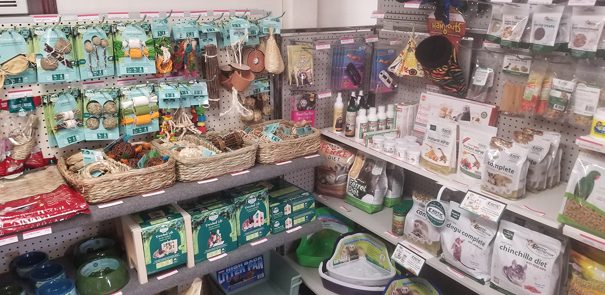 wide variety of small pet supplies